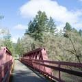 Footbridge over Row River.- Row River National Recreation Trail