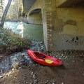 Put-in under the Highway 1 bridge.- Big Sur River: Gorge to Andrew Molera