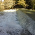 A small drop in the river off a road.- Big Sur River: Gorge to Andrew Molera