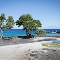 An on-site food trailer makes a full day at this beach easy to plan.- Manini'ōwali Beach