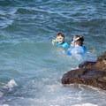 Snorkelers in Hōnaunau Bay.- Pae'a / Two Step at Hōnaunau Bay