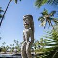 Fierce statues are spread throughout Pu'uhonua o Hōnaunau National Historical Park. - Pu'uhonua O Hōnaunau National Historical Park
