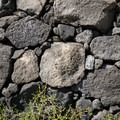A detail of the Great Wall shows how sizable some of the rocks are.- Pu'uhonua O Hōnaunau National Historical Park