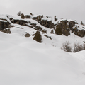 Rock outcrop.- Uranium Mine Snowshoe