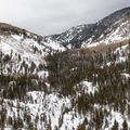 Looking up Fish Creek Canyon.- Uranium Mine Snowshoe