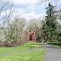 Footbridge over Mosby Creek along the Row River Trail.- Mosby Creek Trailhead