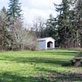 Mosby Creek Covered Bridge.- Mosby Creek Trailhead