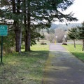 The Row River Trail heading west from Mosby Creek Trailhead.- Mosby Creek Trailhead