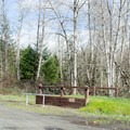 An equestrian loading ramp in the parking area of Mosby Creek Trailhead.- Mosby Creek Trailhead
