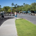 The short walk from the parking area to the beach.- 'Anaeho'omalu Bay / A-Bay Beach