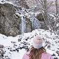Ice formations along Heughs Canyon.- Heughs Canyon Snowshoe