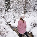 Enjoying the winter scenery in Heughs Canyon.- Heughs Canyon Snowshoe