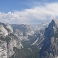 View from Glacier Point in Yosemite National Park.- Panorama Trail