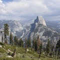 Half Dome from Panorama Trail in Yosemite National Park.- Panorama Trail via Glacier Point