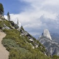 Half Dome from the Panorama Trail in Yosemite National Park.- Panorama Trail via Glacier Point