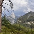 Half Dome from the Panorama Trail.- Panorama Trail via Glacier Point