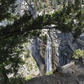 Illilouette Fall is 370 feet tall.- Panorama Trail