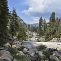 Illilouette Creek in Yosemite National Park.- Panorama Trail via Glacier Point