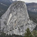 Liberty Cap in Yosemite National Park.- Panorama Trail via Glacier Point