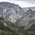 View from the Panorama Trail in Yosemite National Park.- Panorama Trail via Glacier Point