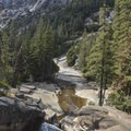 Merced River, late summer.- Panorama Trail via Glacier Point