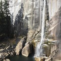 Vernal Fall.- Panorama Trail via Glacier Point