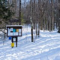 The trailhead provides lots of information- Taylor Lodge Snowshoe via Nebraska Notch