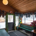 The lodge at the entrance to the trails has rentals available along with a toasty fire.- Smuggler's Notch Nordic Center