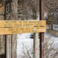 The entrance to the trails.- Smuggler's Notch Nordic Center
