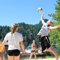 Volleyball and other activities are available at Loon Lake.- Loon Lake Lodge Waterfront House
