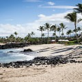 The north section of Kikaua Point is less protected but still fantastic for swimming. Beyond this is Kukio Beach.- Kikaua Point Park + Beach