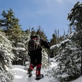 The final push toward the ridge of Nippletop.- Nippletop + Dial Mountains