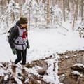 Stream crossing.- Mount Willard: Winter Hike