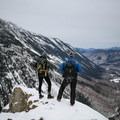 Taking in the views from Willard Mountain.- Mount Willard: Winter Hike