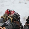 Mirco spikes are useful in winter on Willard Mountain.- Mount Willard: Winter Hike