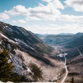 View from the summit looking out over Crawford Notch and route 302.- Mount Willard: Winter Hike
