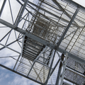 Looking up the fire tower.- Mount Beacon Fire Tower