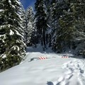 Gold Lake Road is closed by snow in the winter.- Maiden Peak Cabin Snowshoe via Gold Lake Sno-Park