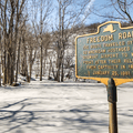 Historic information at the trailhead.- North Point via U.S. Route 9W