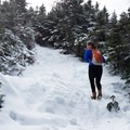 The last few hundred yards climb steeply.- Camels Hump Via The Burrows Trail