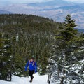 Breaking over the tree line to incredible views.- Camels Hump Via The Burrows Trail