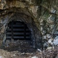 Eagle Cliff mine shaft is closed for safety.- Eagle Cliff Mine Hike