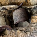 Inside the stone miner's cabin.- Eagle Cliff Mine Hike