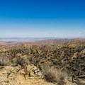 View to the east from Eureka Peak.- Eureka Peak via Covington Road
