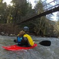 Passing under one of the several bridges.- Big Sur River: Gorge to Andrew Molera