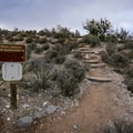 0.2 mile in, leave White Rock Trail and turn onto the Keystone Thrust Trail.- Keystone Thrust