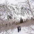 Heading out on the Secret Falls Snowshoe.- Secret Falls Snowshoe