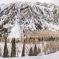 A quintessential Wasatch view along the Secret Falls Snowshoe.- Secret Falls Snowshoe