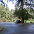 Small parking area for the Lodgepole Picnic Area.- Lodgepole Picnic Area