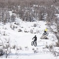 Fat bikes are a popular choice in the Round Valley Complex.- Round Valley Trails, Cove Trailhead
